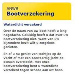 Een bootverzekering van de ANWB : De hulpverlener die uw vertrouwen geniet.