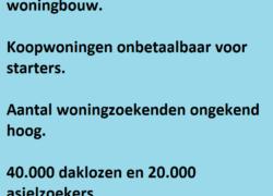 Open brief aan Minister Ollongren over woningnood